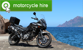 Motorcycle hire in Corsica